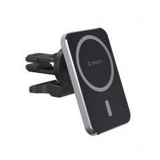 Автомобильный держатель Mage Safe Qi для iPhone, магнитный, черный, Deppa 55185