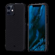 "Чехол Pitaka MagEZ Case для iPhone 12/12 Pro 6.1"", черно-серый, кевлар (арамид)"