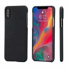 Чехол PITAKA MagEZ Case для iPhone Xs черно-серый в полоску , кевлар (арамид)