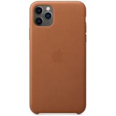 Чехол кожаный для Apple iPhone 11 Pro Max Leather Case - Светло-коричневый