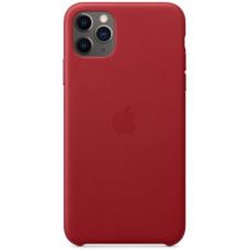 Чехол кожаный для Apple iPhone 11 Pro Max Leather Case - Красный