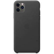 Чехол кожаный для Apple iPhone 11 Pro Max Leather Case - Черный