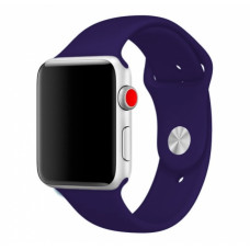 Силиконовый ремешок Sport Band 38мм\ 40мм для Apple Watch (Темно-синий)