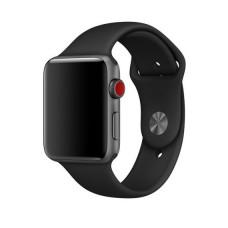 Силиконовый ремешок для Apple Watch (черный) 38/40 мм