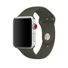 Силиконовый ремешок для Apple Watch (темно-оливковый)  38/40 мм.