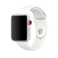 Силиконовый ремешок для Apple Watch (мягкий белый)  38/40 мм.