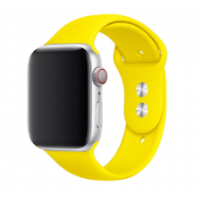 Силиконовый ремешок Sport Band 38мм\ 40мм для Apple Watch (Желтый)