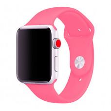 Силиконовый ремешок Sport Band 38мм\ 40мм для Apple Watch (Розовый)