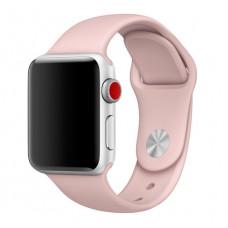 Силиконовый ремешок Sport Band 38мм\ 40мм для Apple Watch (Бежевый)