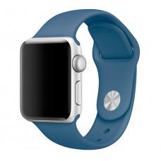 Силиконовый ремешок Sport Band 38мм\ 40мм для Apple Watch (Синий)