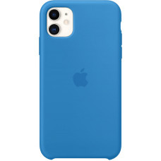 Чехол Apple для iPhone 11, силикон, «синяя волна»