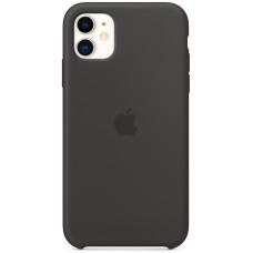 Чехол Apple для iPhone 11, силикон, черный