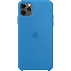 Чехол Apple для iPhone 11 Pro Max, силикон, «синяя волна»