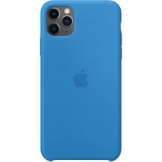 Чехол Apple для iPhone 11 Pro, силикон, «синяя волна»