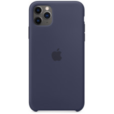Чехол Apple для iPhone 11 Pro Max Silicone, тёмно‑синий