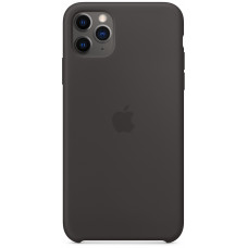 Чехол Apple для iPhone 11 Pro Max, силикон, чёрный