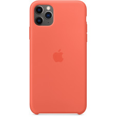 Чехол Apple для iPhone 11 Pro Max Silicone, «спелый клементин»