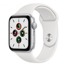 Apple Watch SE 40mm Silver Aluminum Case with White Sport Band MYDM2RU/A