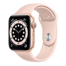 Часы Apple Watch Series 6 GPS 44мм (M00E3RU/A) корпус из алюминия розовый + ремешок розовый