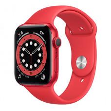 Часы Apple Watch Series 6 GPS 40мм (M00A3RU/A) корпус из алюминия красный + ремешок красный