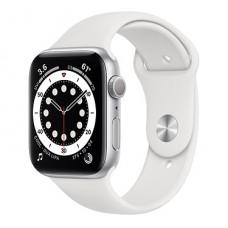 Часы Apple Watch Series 6 GPS 44мм (M00D3RU/A) корпус из алюминия серебряный + ремешок белый