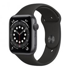 Часы Apple Watch Series 6 GPS 40мм (MG133RU/A) корпус из алюминия серый космос + ремешок черный